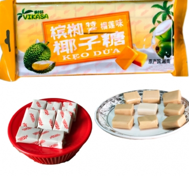 coconut candy with durian flavor