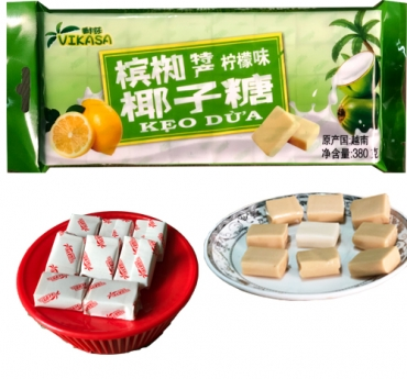 Coconut candy with lemon flavor